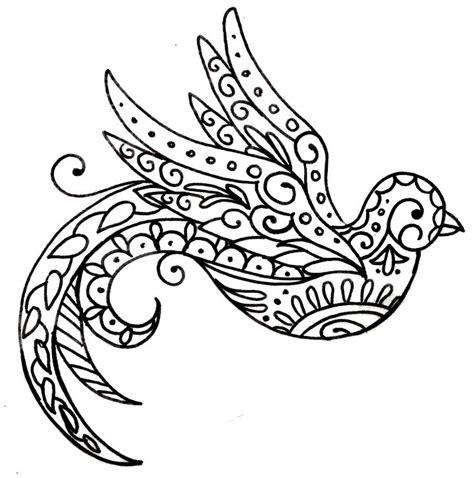 tatouage oiseau style mandala idee creation tatouage