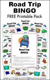 free road trip bingo printable