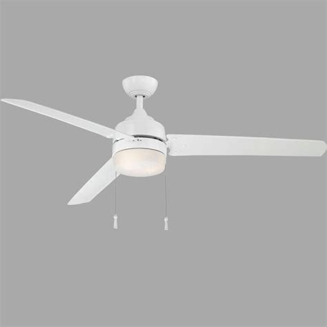 60 white ceiling fan with light home decorators collection carrington 60 in indoor