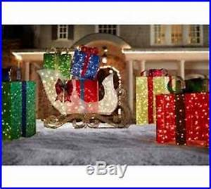 Christmas Holiday Outdoor Yard Decor Jumbo Sleigh Gift