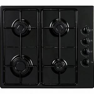 Plaque de cuisson gaz 4 foyers, noir, FRIONOR GGNOFRI/2