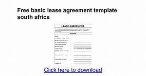 Lease agreement template south africa templates resume for Equipment lease agreement template south africa