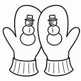 Mittens Coloring Mitten Pages Drawing Season Snowy Easy Getdrawings sketch template