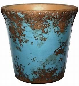 Keramik Geschirr Mediterran : keramik topf antikblau glasiert h 12 cm d 16 cm mediterran ~ Michelbontemps.com Haus und Dekorationen
