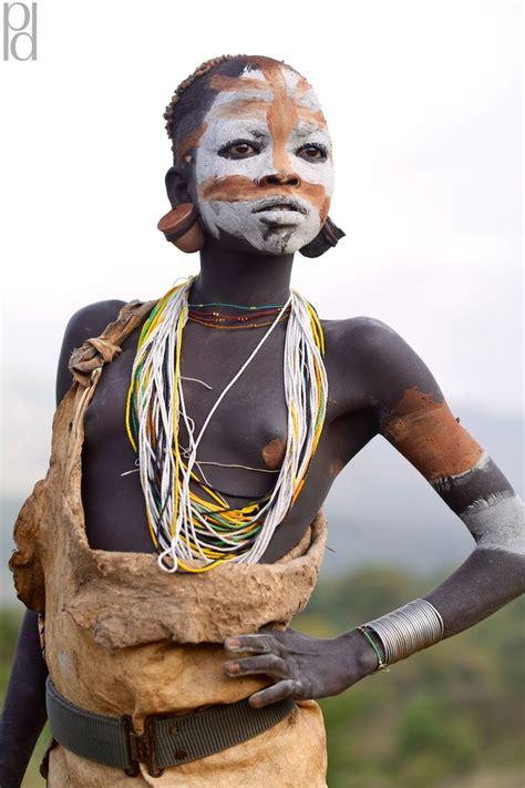 Girl Tribe Omo Valley Tribes Photos Southern Ethiopia Surma Suri