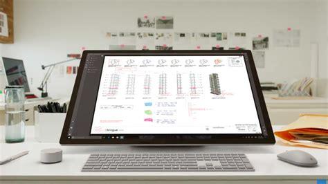 le de bureau tactile le pc surface studio de microsoft se dévoile en vidéo