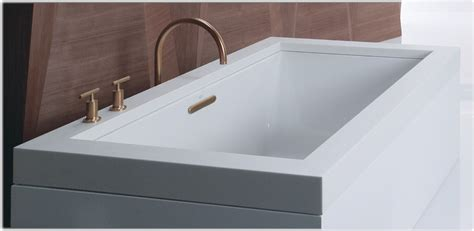 45 Ft Drop In Bathtub by Kohler K 1136 0 Underscore 5 5 Foot Acrylic Bath White