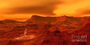 Panorama Of A Landscape On Venus At 700 Digital Art by Ron ...
