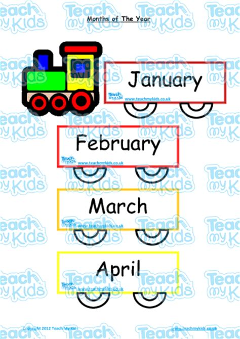 months of the year flashcards poster teach my 862 | 5315 months flashcards 400x