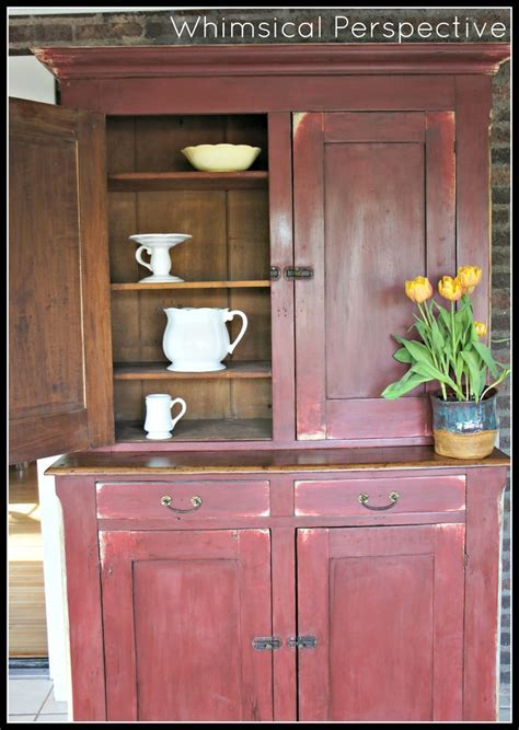 Whimsical Perspective   Painted Farmhouse Cabinet   ASCP