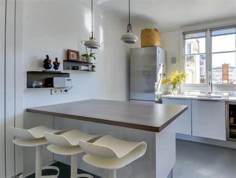 plan central cuisine cuisine moderne avec îlot en épi modèle harmonie
