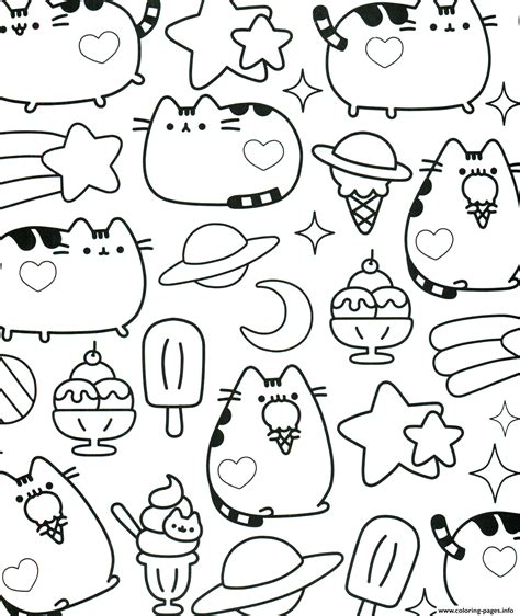 kawaii coloring book kawaii pusheen coloring pages printable