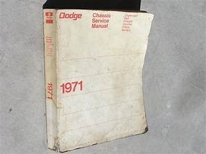 1971 Dodge Charger Or Challenger Service Manual For Sale