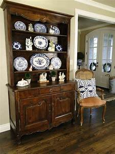 Antique, French, Country, Hutch, Buffet, Provence, Hand, Carved, Petite, Late, 1800, U0026, 39, S