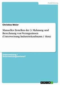 Verzugszinsen Berechnen : manuelles erstellen der 3 mahnung und berechnung von masterarbeit hausarbeit ~ Themetempest.com Abrechnung