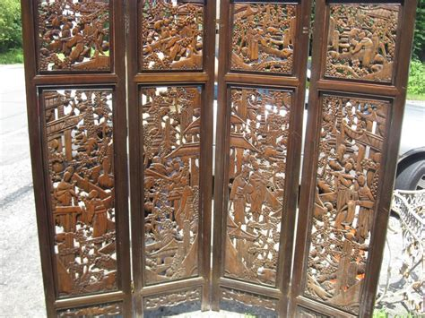 Chinese Carved Screenroom Divider Ebay