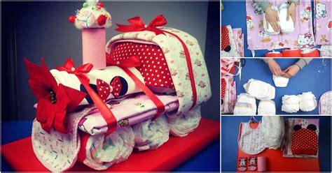 adorable choo choo train diaper cake baby shower gift idea diy crafts