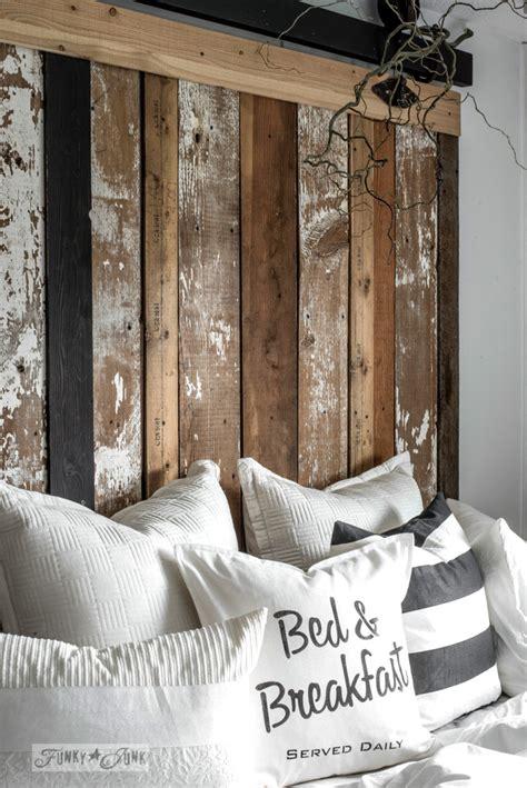 cheater reclaimed wood barn door headboard  faux