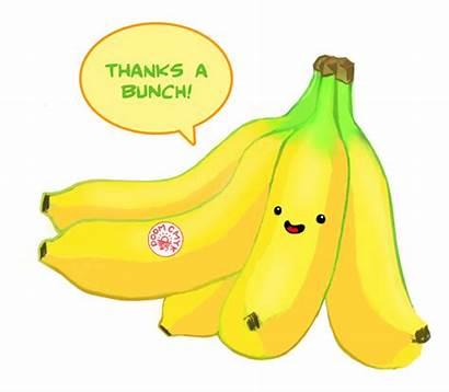Thanks Bunch Clipart Clip Bananas Thank Banana