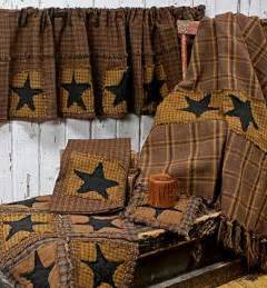Primitive Star Curtains and Valances