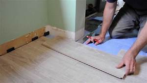 pose de plancher flottant etapes et comment faire youtube With comment poser du parquet flottant clipsé