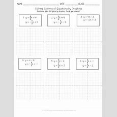 Solving Systems Of Equations By Graphing Practice Worksheet Tpt