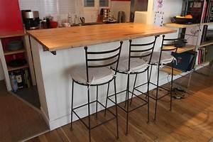 Table Bar Bois : bar transformable en table haute manger en ch ne brut hopfab tables consoles bureaux ~ Teatrodelosmanantiales.com Idées de Décoration