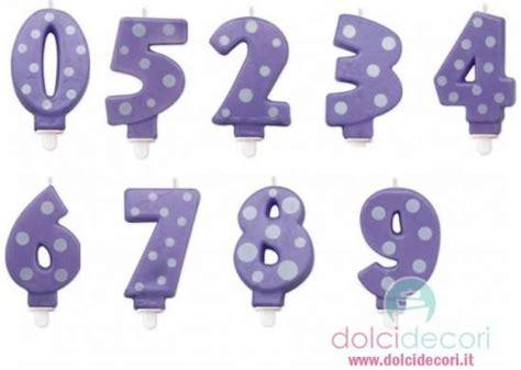 Candele Di Compleanno Particolari by Candeline Numero A Pois Glicine Per Torte Compleanno