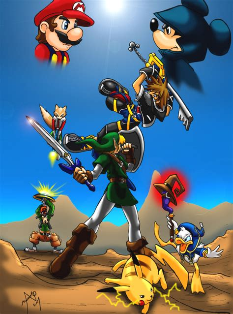 Kingdom Hearts Vs Smash Bros By Mauroz On Deviantart