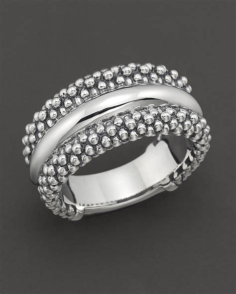 lagos sterling silver quot caviar quot ring bloomingdale s