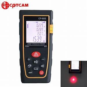 Mesureur De Distance Laser Portable : cptcam cp 60s portable t l m tre laser 60m mesureur de ~ Edinachiropracticcenter.com Idées de Décoration