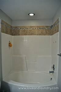 A Quick And Easy Showertub Tile Update Love And Laundry