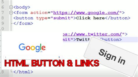 how to create a button in html redirect to external