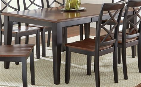 extendable rectangular dining table rani two tone extendable rectangular dining table from