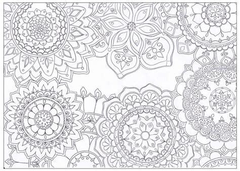 mandala flowers coloring page favecraftscom
