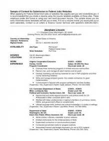 political resume template word how to write a resume for usajobs sles of resumes