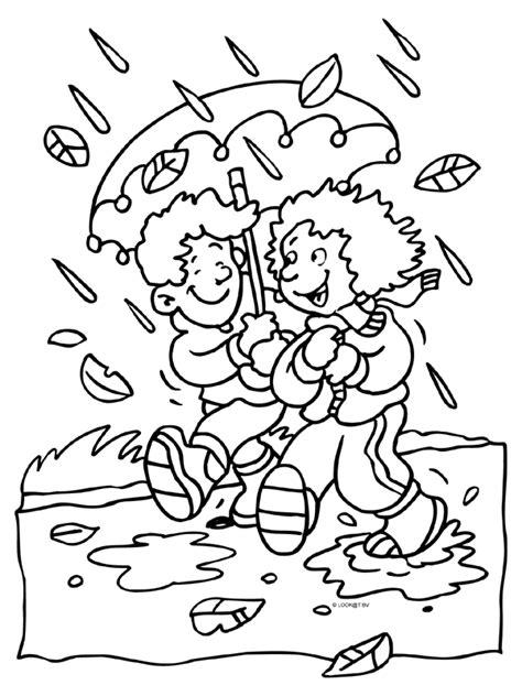 Dieren In De Herfst Kleurplaat by Kleurplaat Herfst Regen Paraplu Kleurplaten Nl Herfst