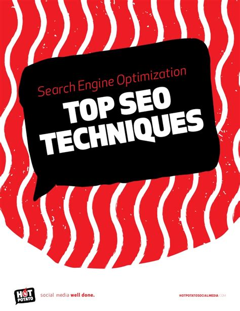 Search Engine Optimisation Techniques by Search Engine Optimization Seo Techniques By Potato
