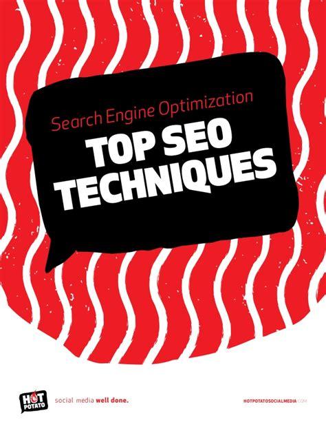 search engine optimization techniques search engine optimization seo techniques by potato
