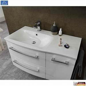 Waschtisch Mit Unterschrank 90 Cm : marlin 3120 waschtisch set mit 90 cm mineral waschtisch und unterschrank ablage rechts ~ Markanthonyermac.com Haus und Dekorationen