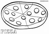 Pizza Coloring Coloringway Cheese sketch template