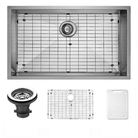 sink grids for stainless steel sinks vigo undermount 30 in single bowl kitchen sink with grid