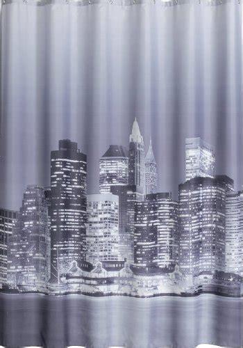 lisopo rideau de manhattan new york noir blanc gris textile 180cm largeur x 200cm
