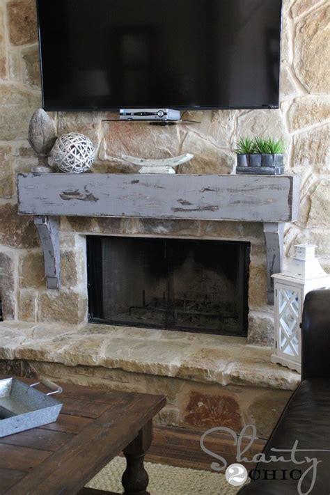 build  hang  mantel   stone fireplace