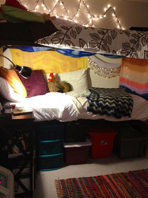 bottom bunk dorm ideas  pinterest dorm