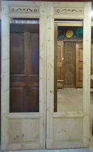 Porte Intérieur Double Vantaux : porte d 39 interieur 2 vantaux vitr e ancienne ~ Melissatoandfro.com Idées de Décoration