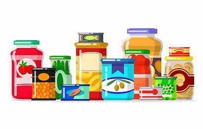 Clipart Pantry Bank Canned Vector Goods Row