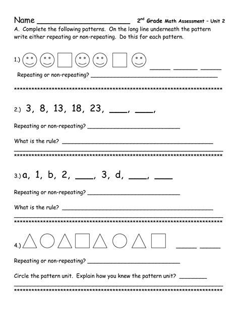 16 best images of second grade number patterns worksheets