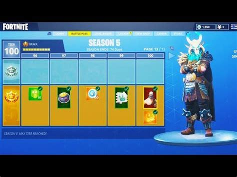 season  max battle pass tier  unlocking