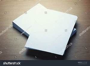 Blank White Paper With Space On Wooden Table- Vintage ...